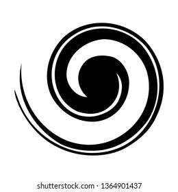 Koru. Maori symbol is a spiral shape based on silver fern frond
