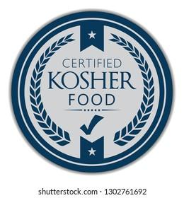 Kosher Food. Certified. Vector Badge.