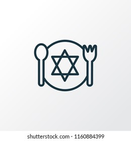 Kosher food icon line symbol. Premium quality isolated meal element in trendy style.