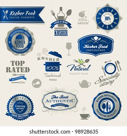 Kosher food labels and elements