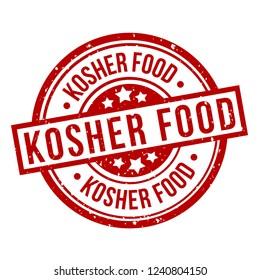 kosher food round red grunge stamp badge