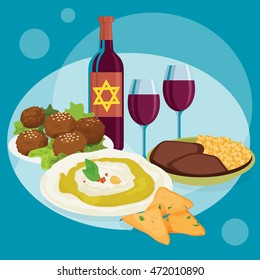 Kosher food - vector for ad, marketing, greeting card, web page, social media, blog and more
