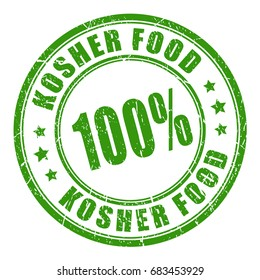 Kosher food vector stamp