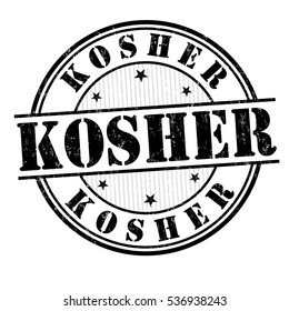 Kosher grunge rubber stamp on white background, vector illustration