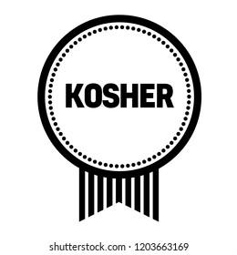 kosher stamp on white background. Sign, label, sticker.