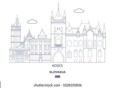 Kosice Linear City Skyline, Slovakia