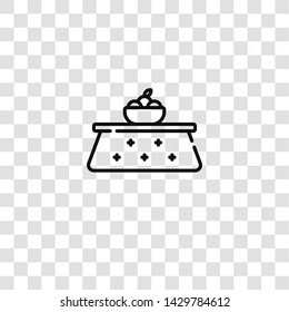 kotatsu icon from furnitures collection for mobile concept and web apps icon. Transparent outline, thin line kotatsu icon for website design and mobile, app development