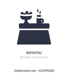 kotatsu icon on white background. Simple element illustration from Furniture and household concept. kotatsu icon symbol design.