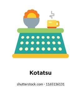 Kotatsu icon vector isolated on white background, Kotatsu transparent sign , snowy cold winter symbols