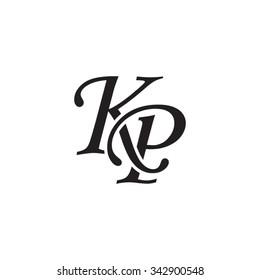 KP initial monogram logo