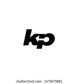 KP K P Letter Logo Design Vector Template