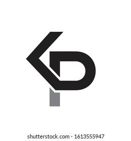 kp logo design simple modern template