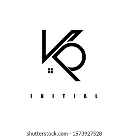 KP logo,in the construction icon.Design logo formed from a line, which becomes the letter.