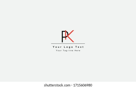 KP or PK letter logo. Unique attractive creative modern initial KP PK K P initial based letter icon logo