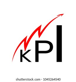 KPI icon. Business analytics.
