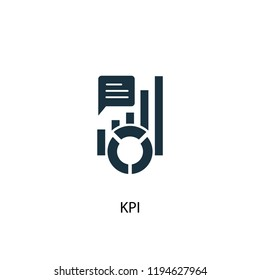 KPI icon. Simple element illustration. KPI concept symbol design. Can be used for web and mobile.