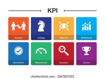 KPI Infographic Icon Set