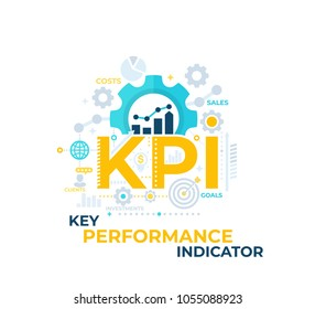 KPI, Key Performance Indicator vector illustration