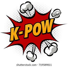 K-pow word Comic Book Effect