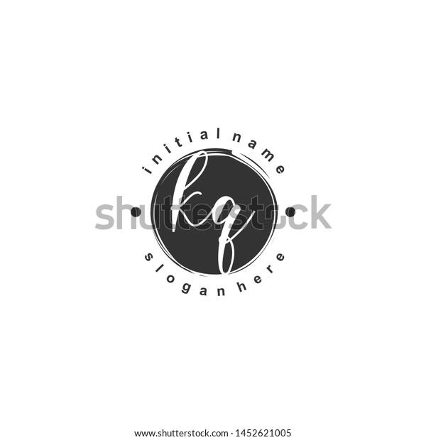KQ Initial beauty monogram logo vector