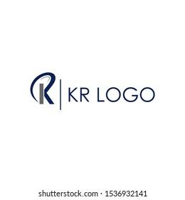 KR initial logo design creative