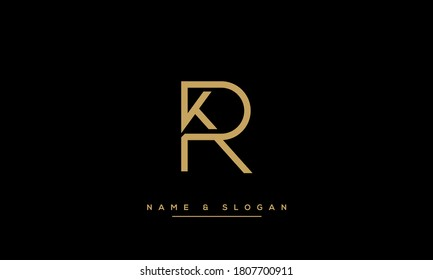 KR, RK, K, R Letters Abstract Logo Monogram