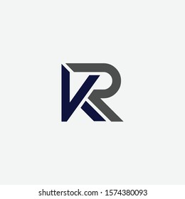 kr rk Letter designs for logo and icons