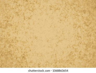 Kraft beige, old paper vector texture. Old paper background vector Illustration. Vintage effect background for design elements.