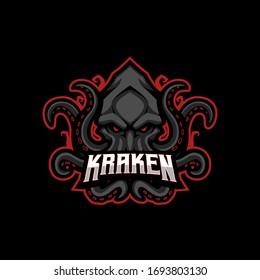 Kraken Mascot Gaming Esport Logo Template