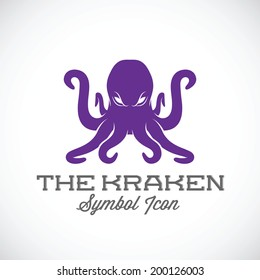 The Kraken Vector Symbol Icon or Logo Template