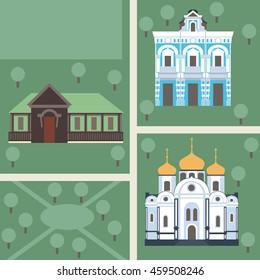 Krasnodar city. Russia. Vector illustration