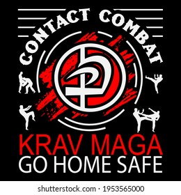 Krav Maga Brazilian ju-jitsu Vector Design. This illustration can be used as a print on T-shirts, cups, bags, Phone Case etc.