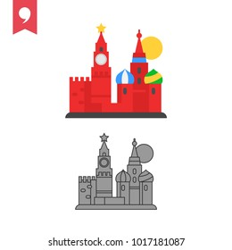 kremlin icon. Simple element illustration. kremlin concept symbol design from Russia collection. Can be used for web and mobile. - Vector