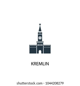 kremlin icon. Simple element illustration. kremlin concept symbol design from Russia collection. Can be used for web and mobile.