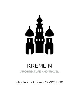 kremlin icon vector on white background, kremlin trendy filled icons from Architecture and travel collection, kremlin simple element illustration