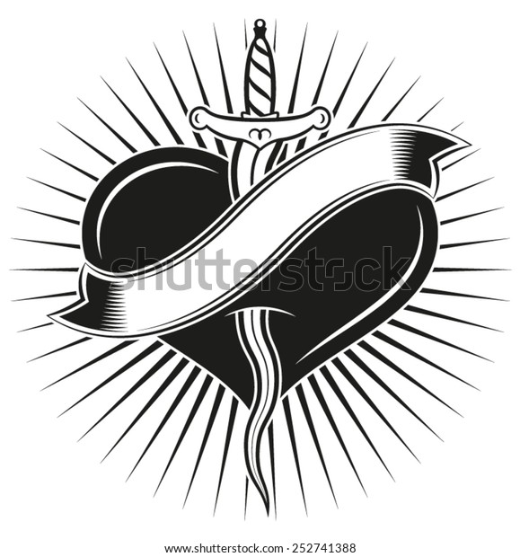 """""""Kriss"""" tattoo. Dagger �kriss� in tattoo style"""