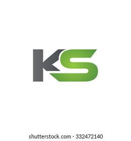 KS company linked letter logo green