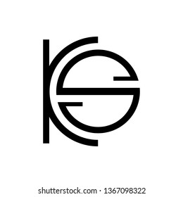 KS, ICS or LCS company logo vector template. Vector logo design with the KS, ICS or LCS initial letters.