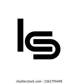 KS, ICSU or LCS company logo vector template. Vector logo design with the KS, ICS or LCS initial letters.
