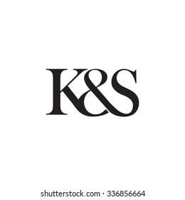 K&S Initial logo. Ampersand monogram logo