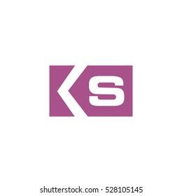 ks k s square logo vector