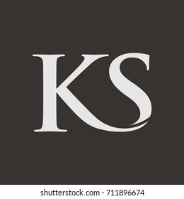 KS letter logo design vector