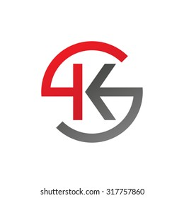 KS SK initial company circle S logo red