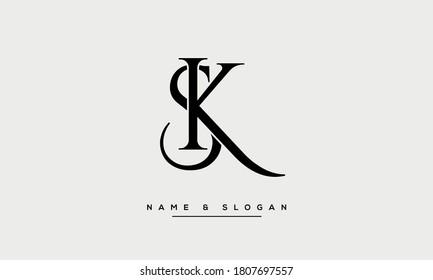 KS, SK, K, S Letters Abstract Logo Monogram