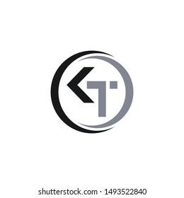 KT Abstract in a circle,inspiring logo design