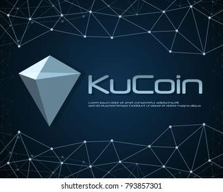 Ku Coin blockchain background design