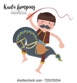 Kuda Lumping or leathered horse. The traditional art form Java, Indonesia.
