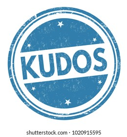 Kudos sign or stamp on white background, vector illustration