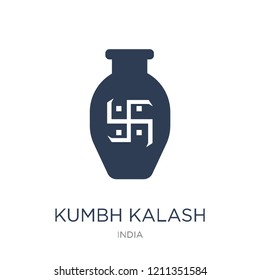 Kumbh kalash icon. Trendy flat vector Kumbh kalash icon on white background from india collection, vector illustration can be use for web and mobile, eps10