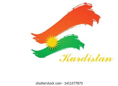 kurdistan flag logo